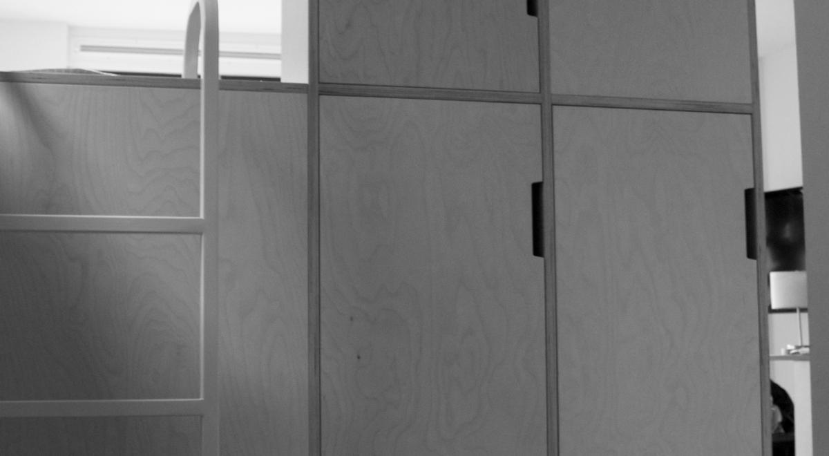 Studio Bed Kast Wand Av Interieurontwerp